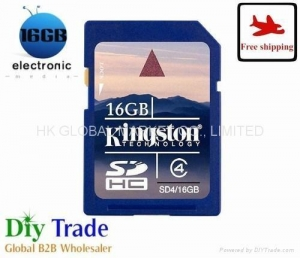 China wholesale 16GB Kingston secure digital card class 4 memory sd card on sale