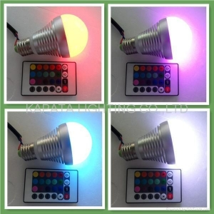 China New Item 5W E27 RGB LED Bulb KPT-LBLG605WF on sale