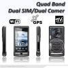 China Quad Band Java Analog TV WIFI Touch Navi Panel GPS Phone for sale