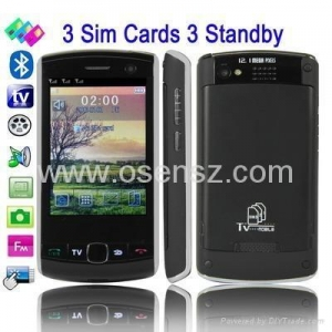 China F9500 Unlocked 2.8 inch Touch Screen 3 SIM Card TV mobile phone on sale