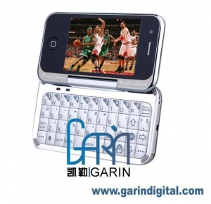 China T3000 Quad Band Touch Screen Dual Cards WIFI TV Rotatable QWERTY Cell Phone on sale
