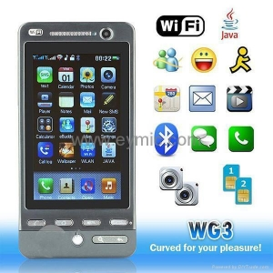 China Wg3 Wifi TV Java bluetooth mp3 mp4 google G3 map mobile phone FCC and CE approve Wg3 on sale