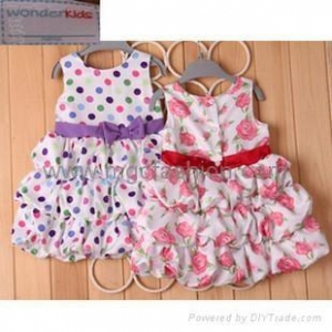 China kid's brand dress, summer wear,clothing on sale