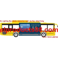 EL Lighting Bus Media Advertisement Transit Advertising ( HNR 0933 ) HNR 0933