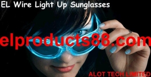 China EL Wire Lighting Up Sunglasses Flashing Eyes Glasses ( HNR 0072 ) HNR 0072 on sale