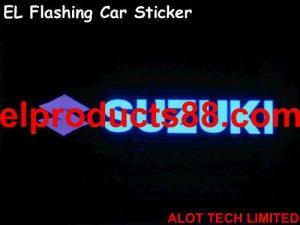 China EL Flashing Car badges EL Flashing Car Sign ( HNR 0054 ) HNR 0054 on sale