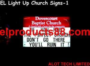 China EL Light Up Church Signs ( HNR 0207 ) HNR 0207 on sale