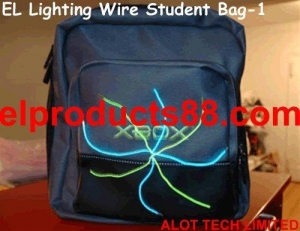 China EL Glow Wire Tshirt Panel Decoration Lighting Up Student Bag ( HNR 0106 ) HNR 0106 on sale