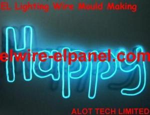 China New High Brightness EL Flashing Wire Wording EL Wire Foil ( HNR 0019 ) HNR 0019 on sale