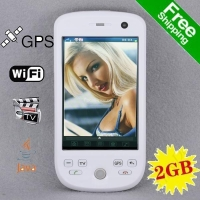 Free shipping ZOHO G2 Dual Sim GPS WIFI Analog TV JAVA Trackball Cell Phone W