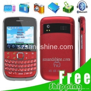 China Free Shipping S3 3.0 QWERTY 4-SIM 2 TF Slot TV FM Bar Mobile Cell Phone on sale