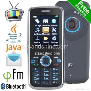 China Free Shipping S2000 2.0 3-SIM JAVA TV FM eBook Bar Mobile Cell Phone on sale