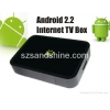 China Free Shiping Google HD Internet TV Box, Android 2.2 TV Internet Box for sale