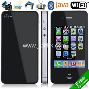 China Free Shipping I phone 4G Dual Sim TV JAVA Bluetooth Cell Phones on sale