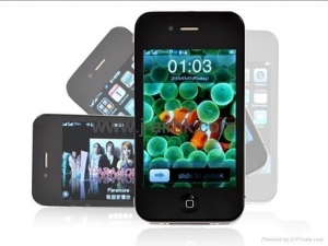 China Best iPhone 4 32GB Copy dual sim Quad Band Wifi Java Touch Screen mobile phone on sale