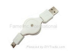 China Retractable Mini USB 5pin cable on sale