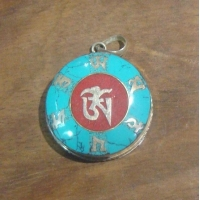 China Turquoise OM Mantra Boxes Pendant on sale