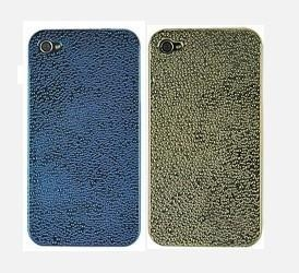 China Water Drop Hard Back Case Cover for iPhone 4 (Golde&Blue) on sale