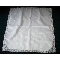 Lace Table Cloth with Embroidery Fabric