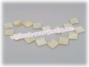 China Five strands 25mm square shell beads strands wholesale on sale