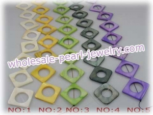 China Five strands 25mm square shell beads wholesale on sale