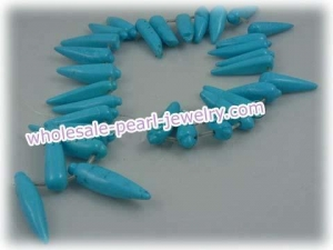 China bule capsicum shape turquoise strands wholesale on sale