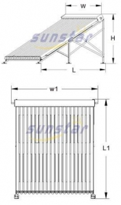 China Heat Pipe Solar Collector [Stainless steel]-SA on sale