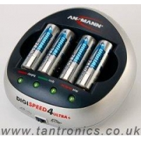 Ansmann Digispeed 4 ULTRA Plus - With 4 x 2850mAh Batteries (Ref: chg-ans-ds4up)