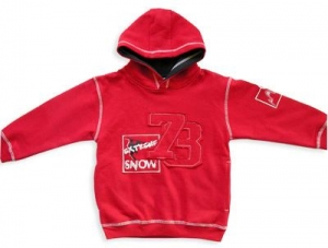 China BT-001BOY'S 4-6X FLEECE HOODIE 80% COTTON /20% POLY 290GSMFLEECE TOP WITH FRONT APPLIQUE DETAILS on sale