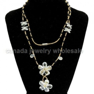 China Necklaces White Costume Jewelry Necklaces Wholesale on sale
