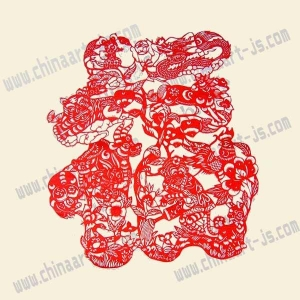 China Paper-cut Paper-cut-jz008-Chinese Traditional Fu on sale