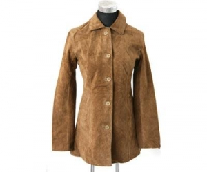 China Leather garments LADIES PIG SUEDE SHORT COAT on sale
