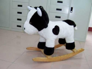 China Rocking Animal Show All Items Rocking Plush Cow on sale