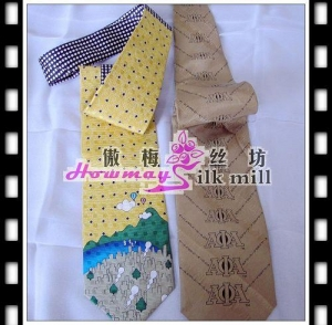 China silk bedding and sleepwear jacquard satin necktie on sale