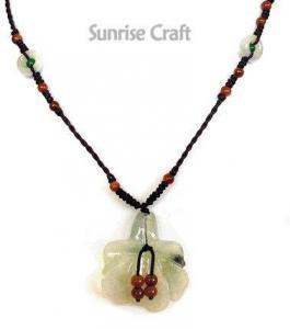 China Jade Jewelry Set Jade Lily Necklace on sale