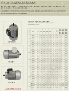 China Y2 YS.YY.YC.YU.YL series fractional asynchronus horsepower motors on sale