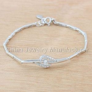 China Fashion cheap 925 sterling silver Hearts & Arrows bracelets on sale