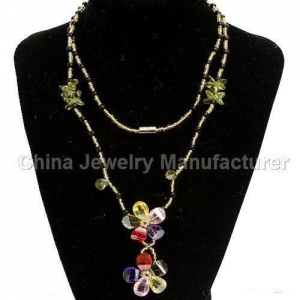 China Chromatic Costume Jewelry Necklaces Wholesale For Women on sale
