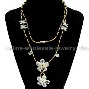 China White Costume Jewelry Necklaces Wholesale on sale