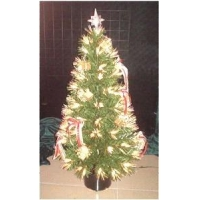 China 36 Ornaments Fiber Optic Christmas tree on sale