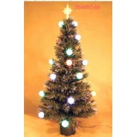 China 48 Ornaments Fiber Optic Christmas tree on sale