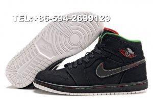 China 374454-031 nike air jordan 1 basketball shoes(black) on sale