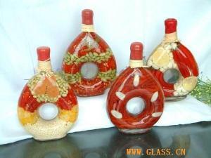 China Glasswork glass fruit vinegar bottle on sale