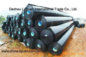China Geomembrane-HDPE Smooth high-density polyethylene geomembrane on sale