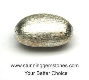China Wholesale 925 Sterling Silver Beads, Matte Nugget (15*24mm), per pcs on sale