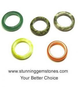 China Wholesale Natural Semi Precious Stone Ring, (20-25mm), A Grade, per pcs on sale