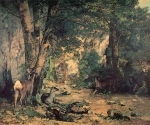 Impressionist(3830) A Thicket of Deer at the Stream of Plaisir-Fountaine