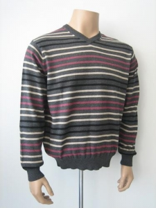China Men Cashmere Sweater Striped Cotton/Cashmere Sweater for Men on sale