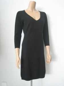 China Women Cashmere Sweater V Neck Cashmere Long Dress on sale