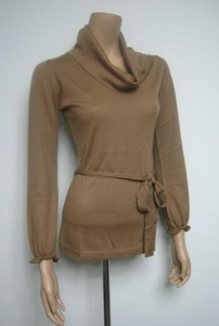 China Women Cashmere Sweater Cashmere Belted Sweater on sale